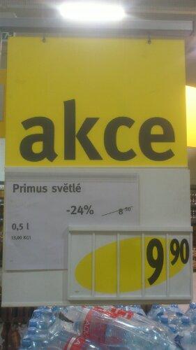 Původní cena 8,50 Kč, akční cena po slevě 24% 9,90 Kč